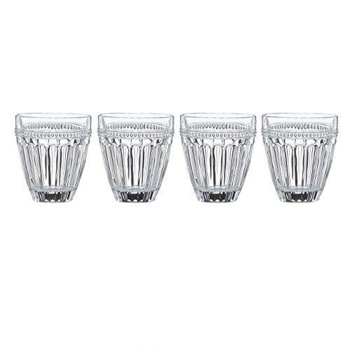 (Lenox French Perle Double Old Fashion Glass (Set of 4), Clear)