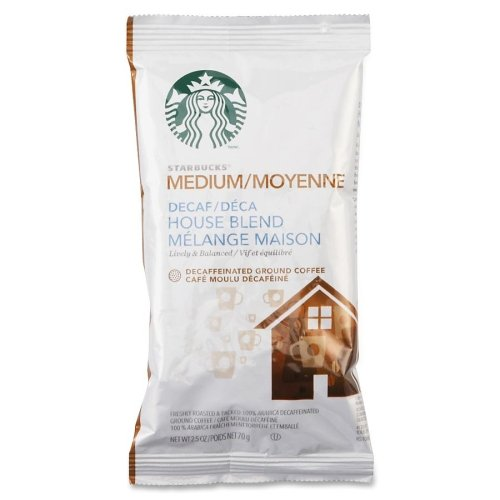 Starbucks Pre-ground Drip Brewing Coffee Portion Pack - Decaffeinated - Nut, Cocoa, House Blend - Medium - 18 / (Starbucks Decaffeinated Tea)
