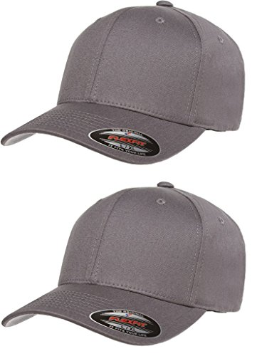 d22445da673 Flexfit 2-Pack Premium Original Cotton Twill Fitted Hat w THP No Sweat  Headliner