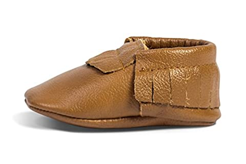 BirdRock Baby Moccasins - Premium Soft Sole Leather Boys and Girls Shoes for Infants, Babies, & Toddlers (Small | 6-12 Months | US 4, - Leather Baby Moccasins