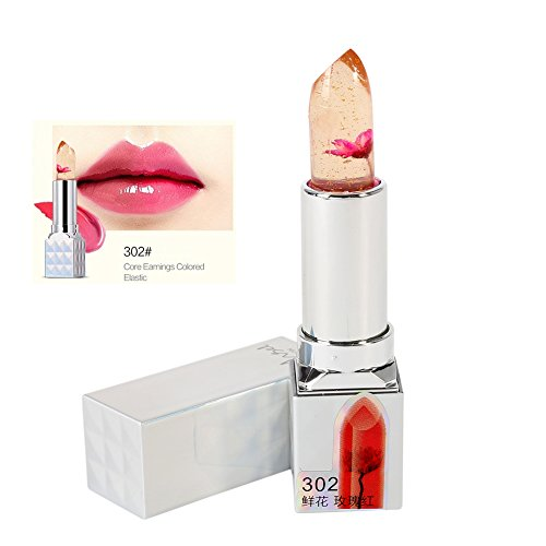 ROPALIA Magic Flower Jelly Temperature Change Color Lip Blam Moisturizer Long Lasting Lipstick (Rose Red)