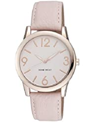 Nine West Womens NW/1158PKRG Rose Gold-Tone Watch