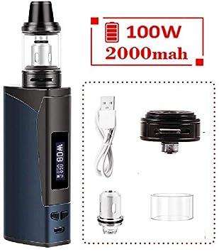 Cigarrillo electrónico, kit de armadura Vape, batería recargable de 2000 mAh y atomizador de vapor con pantalla de luz LED, fácil de operar: sin ...