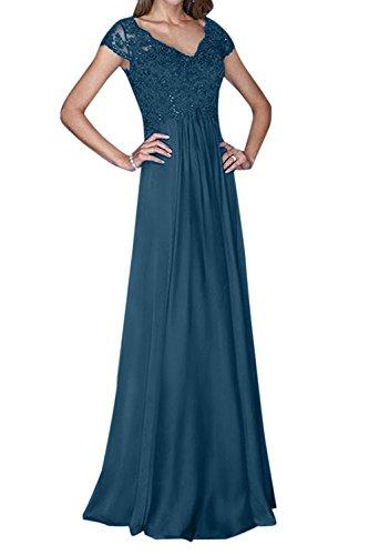 Mutterkleider Ballkleider Lang mia Abschlussballkleider Braut Blau Elegant La Tinte Fuer Chiffon Spitze Hochzeits Abendkleider 0Swxq