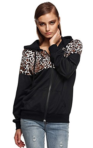FINEJO Ladies Autumn Winter Jacket Hooded Sweater Coat Hooded Sweats