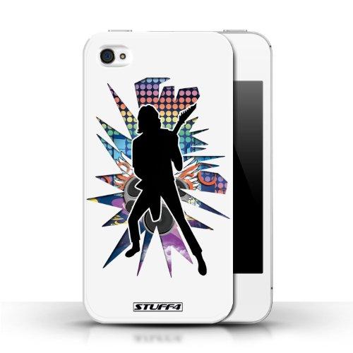 Etui / Coque pour Apple iPhone 4/4S / Solo Blanc conception / Collection de Rock Star Pose