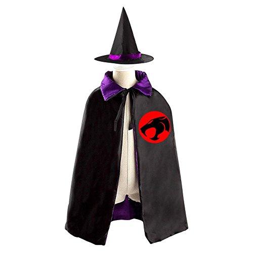 Mumm-ra Costume (DBT ThunderCats Logo Childrens' Halloween Costume Wizard Witch Cloak Cape Robe and Hat)