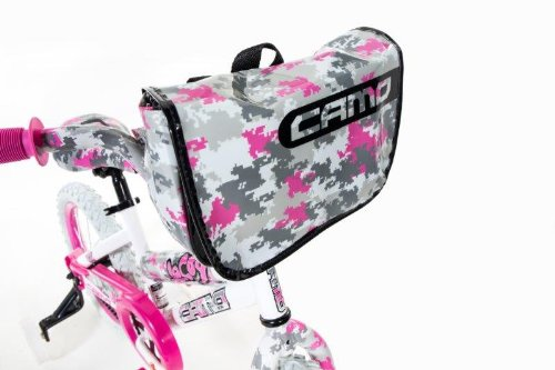 Dynacraft 8054-65TJ Decoy Girls Camo Bike, 16-Inch, White/Pink/Black by Dynacraft (Image #2)