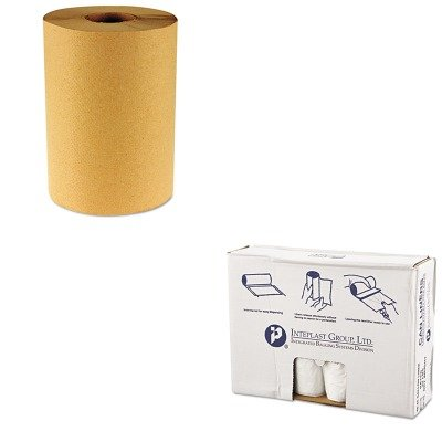 KITBWK6256IBSVALH4048N12 - Value Kit - Integrated Bagging Systems IBSVALH4048N12 Natural Can Liners, 11 Micron, 40 - 45 Gallons (IBSVALH4048N12) and Boardwalk 6256 Natural Hardwound Roll Paper Towels, 8quot; x 800' (BWK6256)