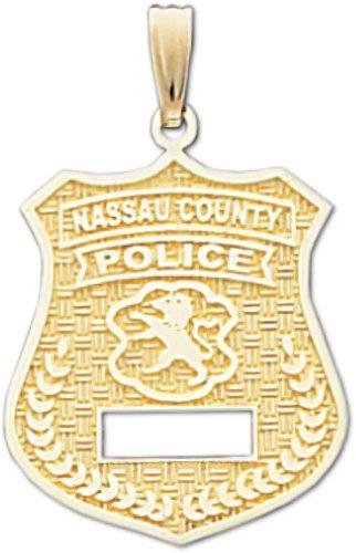 Amazon 14k nassau county police officer badge pendant charms 14k nassau county police officer badge pendant mozeypictures Choice Image