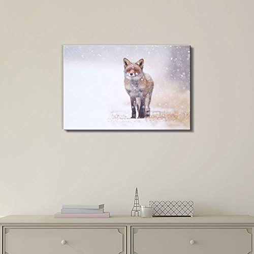 Red Fox in The Snow Wall Decor ation