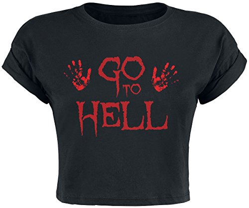Go To Hell Cropped Top Top donna nero M