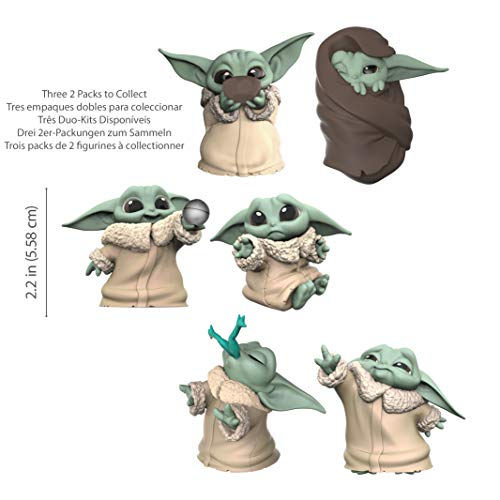 """41wa trm7ZL - Star Wars The Bounty Collection The Child Collectible Toys 2.2-Inch The Mandalorian """"Baby Yoda"""" Sipping Soup, Blanket-Wrapped Figure 2-Pack"""