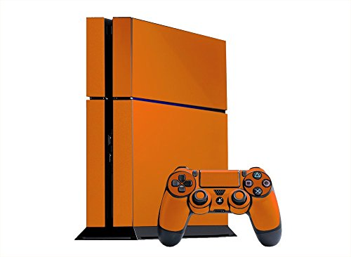 Sony PlayStation 4 Skin (PS4) - NEW - CITRUS ORANGE system skins faceplate decal mod