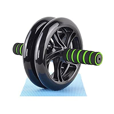 KANSOON Dual Wheels Ab Roller Elite, Abdominal Carver, Core Exerciser for Fitness Training, Toning Back and Arms Exercise, Plus a Free Knee Mat, Regular Wheel