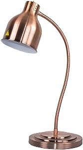 250W Commercial Food Heat Lamp Food Warmer Lamp Buffet Food Heat Preservation Chandelier (Champagne, Single head)