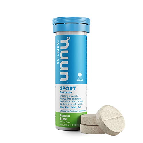 Nuun Active Single Tube - 10 Electrolyte Tablets Lemon Lime, 1.8 Ounce Tube