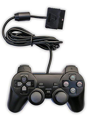 Saloke Wired Controllers for PS2 Playstation 2,Remote Joystick Gamepad for Dual Shock(Black)
