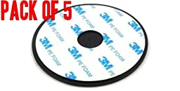 Pack of 5 3M Adhesive Disc Dashboard Mounting for Magellan, Garmin, Tomtom, IPHONE, ANDROID GPS 2.75 in or 70mm with 3M adhesive