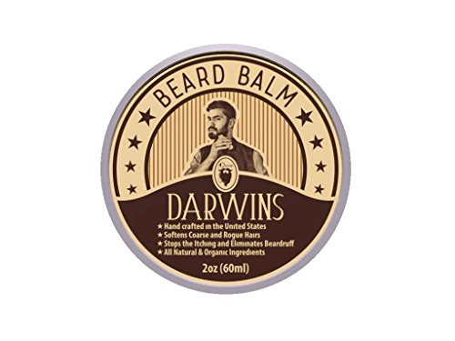 Darwin's Beard Balm Formula Full of Vitamins for a Fuller, Longer, & Thicker Beard | Made In USA | Dandruff Remover & Stops Itching | Best Practice to Use Everyday | 2 oz Dandruff Remover