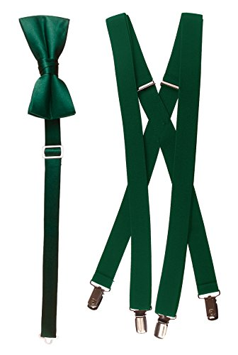 - Bow Tie and Suspender Set Combo in Men's & Kids Sizes (48
