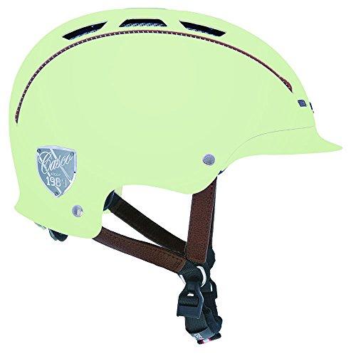 casco Alemán Fluorescente Marca Modelo Urbanic TC Plus Urbano (Talla L 59-63cm). Verde Flourescente