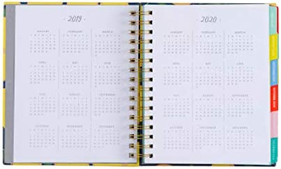 2019-2020 Eccolo Spiral Agenda Planner, Lemon Tree, Hardcover, Weekly & Monthly Views, 18 Months, Sticker Sheets, Full Color Graphics and Quotes. 7.25 ...