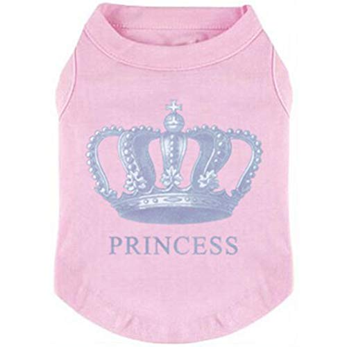 Cute Clothes For Puppies (EXPAWLORER Princess Fashion Pet T-Shirt Small Dog Cat Vest Clothes Puppy Costumes for Chihuahua Yorkshire Terrier Pink)
