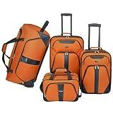 U.S. Traveler 4-Pc Luggage Set (Burnt Orange)