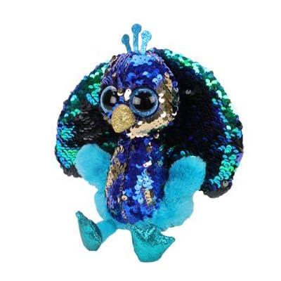 BEANIE BABIES Ty Flippables Tyson - Peacock Medium: Toys & Games