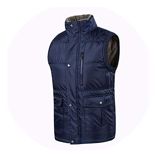 Shining4U Vest Men Winter Warm Vests Men with Many Pockets Casual,Color ()