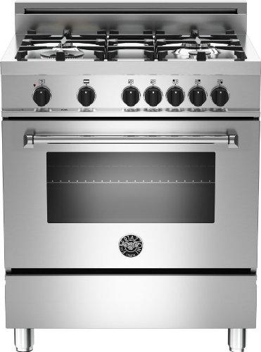 Bertazzoni Freestanding Ranges (Bertazzoni MAS304DFME 30 Inch Wide 3.6 Cu. Ft. Free Standing Gas Range with Elec, Stainless Steel)