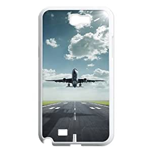 Airplane Takeoff Design Discount Personalized Hard Case Cover for Samsung Galaxy Note 2 N7100, Airplane Takeoff Galaxy Note 2 N7100 Cover by runtopwell