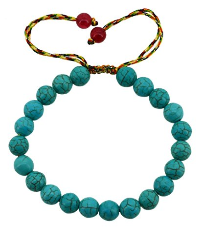 Drawstring Round Beads Beaded Handmade Macrame Fashion Bracelet
