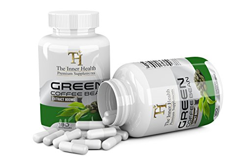 Green Coffee Bean Pluck Supplement For Weight Loss - 180 Capsules, 800 Mg - Best For Weight Loss & Appetite Suppressant (180)