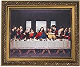 The Last Supper Series Last SupperPrint in Ornate Gold Finish Frame Under Glass