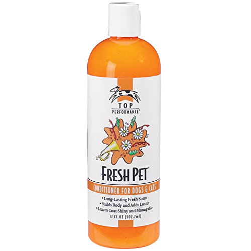 Top Performance Fresh Pet Conditioner to Reduce Mats and Tangles, 17 Oz. Size – Conditioning Formula Gives Coats (Top Performance Dog Cat)