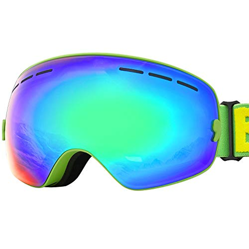 JOJO LEMON Ski Goggles for Men Women Snowboard OTG Snow Goggles Youth Winter Skiing Sport Goggles Uv Protection