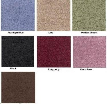 Madison Industries Reflections Wall to Wall Bathroom Carpeting, 5' x 6', Cut to Fit, Burgundy