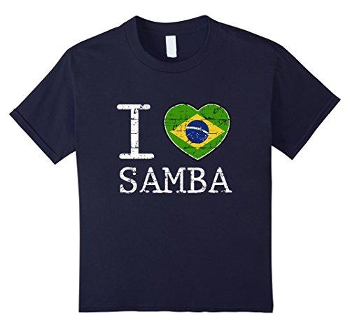 Brazilian Samba Carnival Costumes (unisex-child Brazil Samba T-shirt 6 Navy)