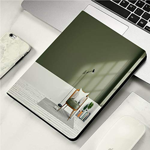 """Case for iPad Pro Case Auto Sleep/Wake up Smart Cover for iPad 10.5"""" Case Minimalist Interior Design Green Living Room 3D Render"""