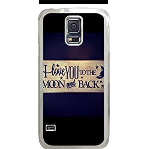 S5 case ,Samsung Galaxy S5 case ,fashion durable transparent side design Samsung Galaxy S5 case, pc material phone cover ,with Love you to the moon and back design.