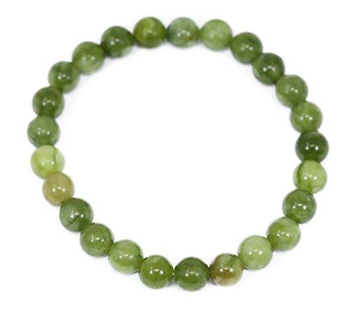 - Lovelybead Gemstone Bracelets Natural Genuine Gemstones Birthstone Handmade Healing Power Crystal Beads Elastic Stretch 8mm 7.5 Inch Unisex (Matte Olivine Jade)