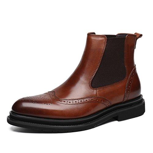 6bac187f89f1 Herren Lederschuhe Herren Lederstiefel High-Top-Schuhe Martin Stiefel wies kurze  Stiefel britischen Stil