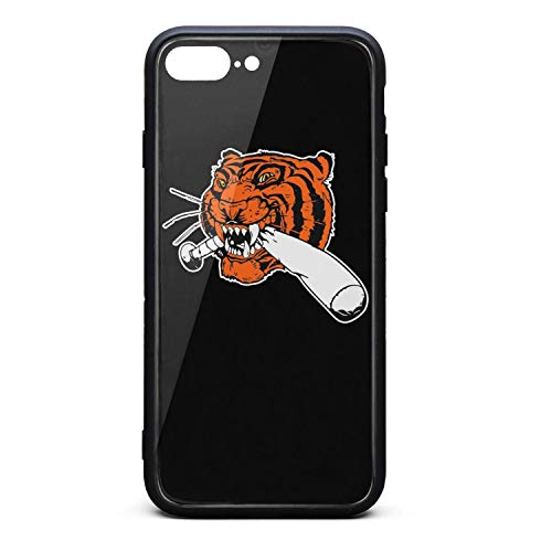 (Detroit_Funny_Tigers Baseball Mobile Phone Case Fit Covers Shock-Absorption Skid Proof for Iphone7 Plus/Iphone8 Plus)
