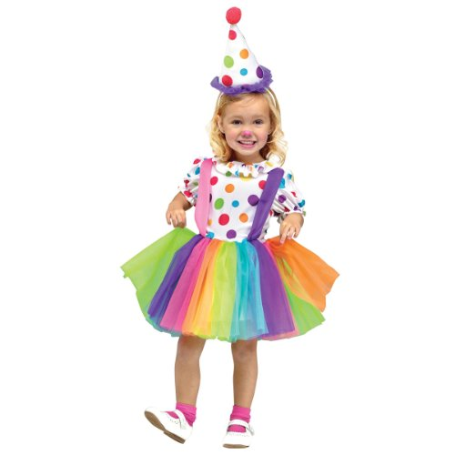 Fun World Costumes Baby Girl's Big Top Fun Toddler Costume, White, Small