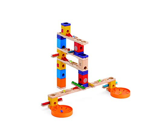 (Award Winning Hape Quadrilla Wooden Marble Run Construction - Music Motion)