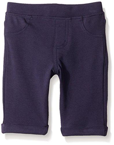 Kidtopia Little Girls' Toddler Printed Solid Knit Bermudas, Denim, (Girls Knit Bermuda Shorts)