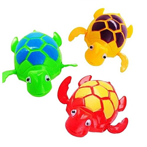 VHLL Hot Newborn Cartoon Animal Baby Bathroom Toys Swimming Turtle Wound-up Chain Clockwork Kids Classic Children Gift Plastic Toys by VHLL