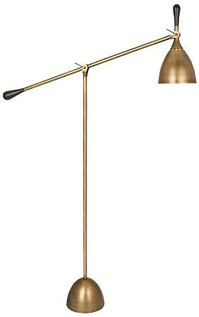 Charmant Robert Abbey Ledger Warm Brass Adjustable Metal Floor Lamp